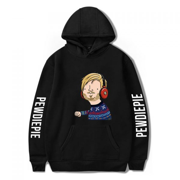2020 New Pewdiepie Sweatshirts Loose Young Casual Adult Letter Men s Hoodies Stylish Logo Spring Autumn 2 - PewDiePie Merch