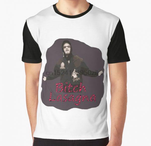 All Over Print T Shirt Men Funny tshirt Pewdiepie Bitch Lasagna Graphic T Shirt - PewDiePie Merch