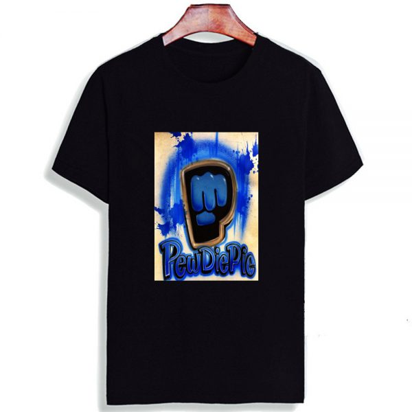 Fashion Short Sleeve T Shirt Men Madu Robearto Pewdiepie Printed 100 Cotton Top Tees Men O 4 - PewDiePie Merch