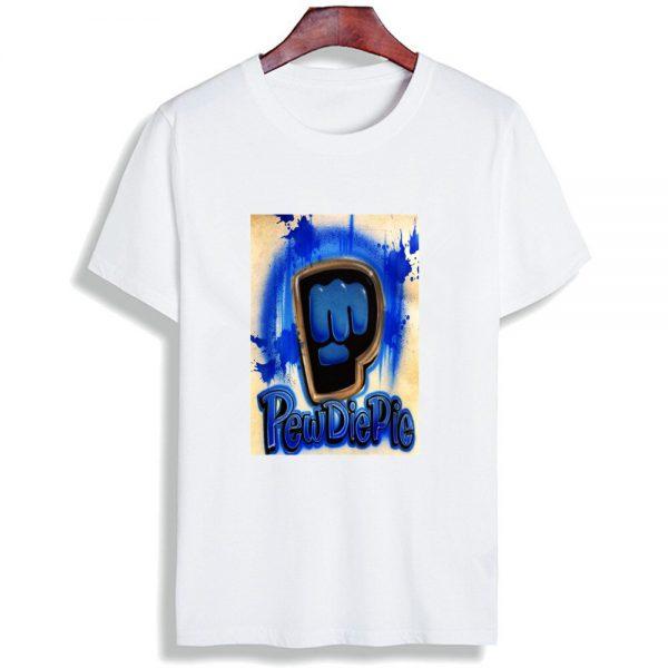 Fashion Short Sleeve T Shirt Men Madu Robearto Pewdiepie Printed 100 Cotton Top Tees Men O 9 - PewDiePie Merch