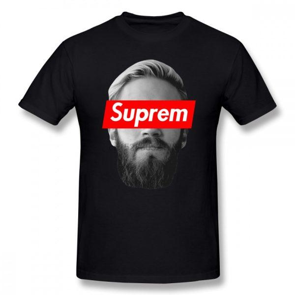Jake Paul T Shirt Pewdiepie T Shirt Graphic Cotton Tee Shirt Plus size Men Fashion Short - PewDiePie Merch
