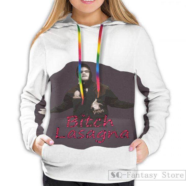 Mens Hoodies Sweatshirt for women funny Pewdiepie Bitch Lasagna print Casual hoodie Streatwear 1 - PewDiePie Merch