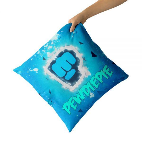 PewDiePie Cotton Canvas custom pillow custom covers Throw Pillow Pillow Covers Sofa Pillow 1 - PewDiePie Merch