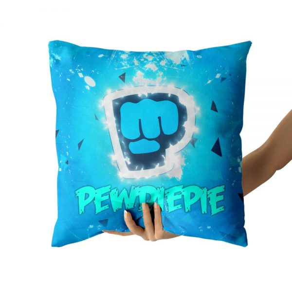 PewDiePie Cotton Canvas custom pillow custom covers Throw Pillow Pillow Covers Sofa Pillow 3 - PewDiePie Merch