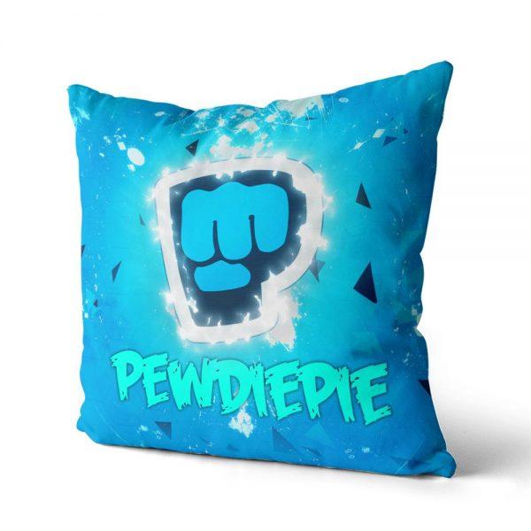 PewDiePie Cotton Canvas custom pillow custom covers Throw Pillow Pillow Covers Sofa Pillow 4 - PewDiePie Merch