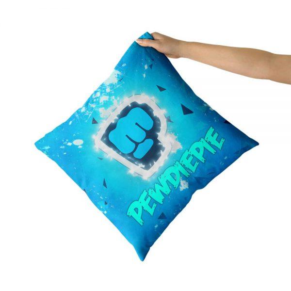 PewDiePie Cotton Canvas custom pillow custom covers Throw Pillow Pillow Covers Sofa Pillow - PewDiePie Merch