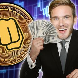 PewDiePie Holding Cash In Hand - PewDiePie Merch