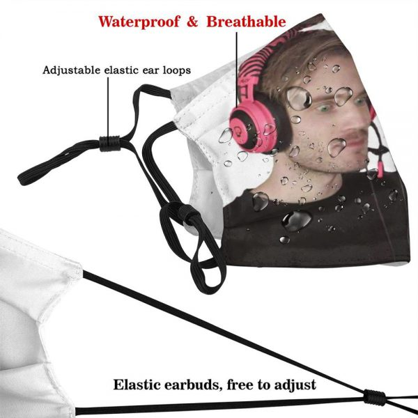 Pewdiepie Enjoying Some G Fuel Edition Reusable Mouth Mask Filter Cool Funny Masks Pewdiepie Felix Youtube 2 - PewDiePie Merch