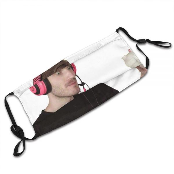 Pewdiepie Enjoying Some G Fuel Edition Reusable Mouth Mask Filter Cool Funny Masks Pewdiepie Felix Youtube 3 - PewDiePie Merch