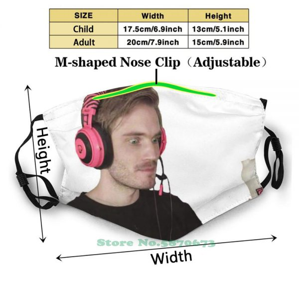 Pewdiepie Enjoying Some G Fuel Edition Reusable Mouth Mask Filter Cool Funny Masks Pewdiepie Felix Youtube - PewDiePie Merch