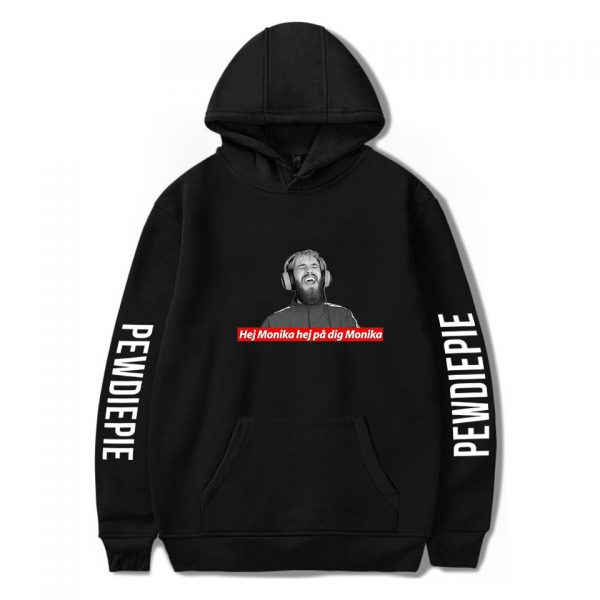Pewdiepie Sweatshirts Loose Young Casual Adult Letter Men s Hoodies 2020 New Stylish Logo Clothes Full 3 - PewDiePie Merch
