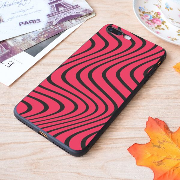 Psychedelic Red Black Pewdiepie Wave Pattern Print Soft Silicone Matt Case For Apple iPhone Case 1 - PewDiePie Merch