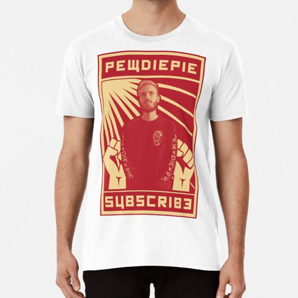Subscribe To Pewdiepie T Shirt Pewdiepie Pewds Merch Youtube Meme Subscribe Propaganda Communist Communism Ussr 11 - PewDiePie Merch