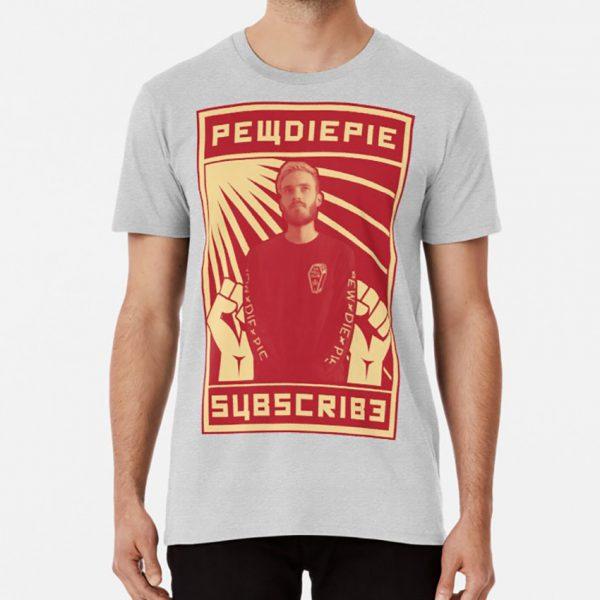 Subscribe To Pewdiepie T Shirt Pewdiepie Pewds Merch Youtube Meme Subscribe Propaganda Communist Communism Ussr - PewDiePie Merch