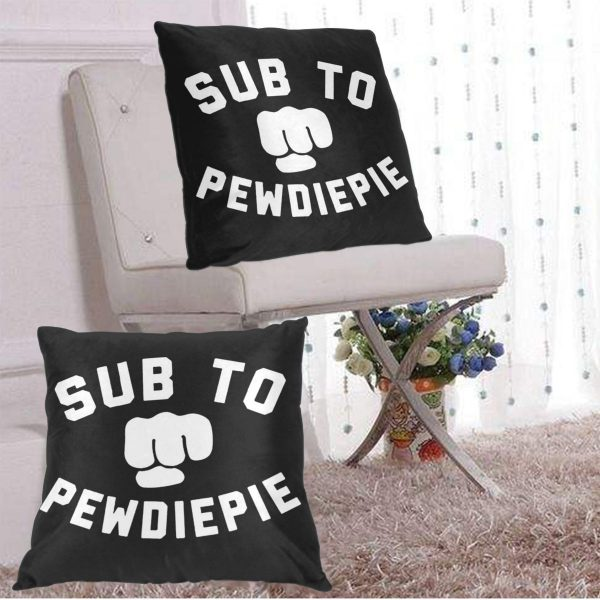 Throw Pillows Case Subscribe to Pewdiepie sofa decorative pillow cushions pillow cover 1 - PewDiePie Merch