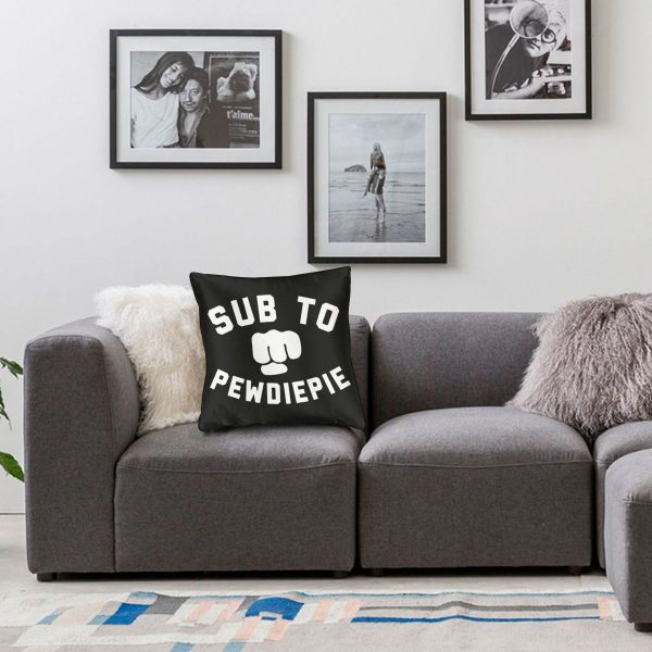 Throw Pillows Case Subscribe to Pewdiepie sofa decorative pillow cushions pillow cover 5 - PewDiePie Merch