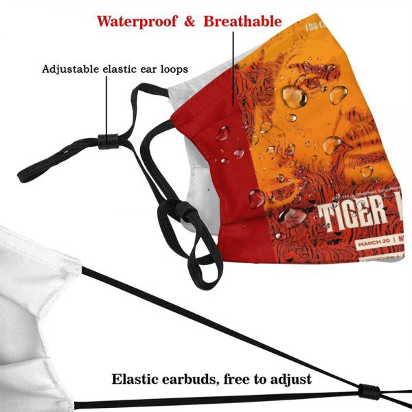 Tiger King Official Tv Show Poster Reusable Mouth Mask Washable Filter Anti Dust Face Masks Pewdiepie 2 - PewDiePie Merch