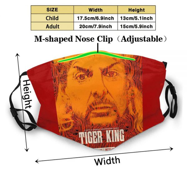 Tiger King Official Tv Show Poster Reusable Mouth Mask Washable Filter Anti Dust Face Masks Pewdiepie - PewDiePie Merch