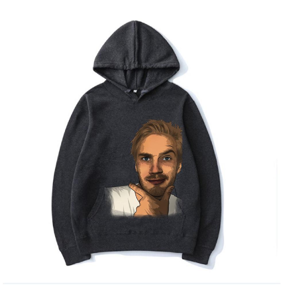 3d print black color pewdiepie image hoodie menwomen style 6745 - PewDiePie Merch