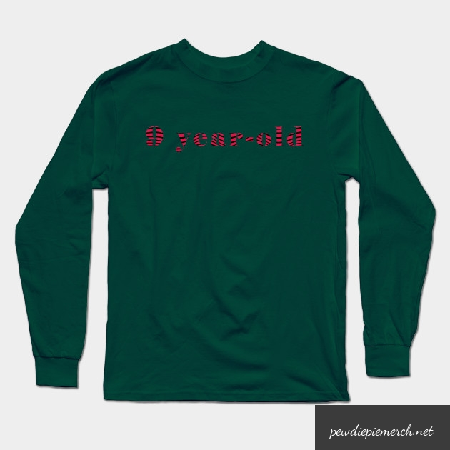 9 year old long sleeve t shirt 4206 - PewDiePie Merch