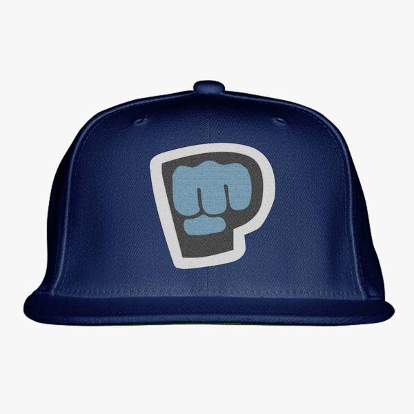 black blue gray color with pewdiepie smash logo snapback hat 3925 - PewDiePie Merch