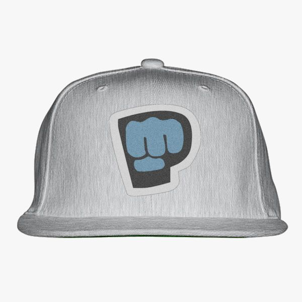 black blue gray color with pewdiepie smash logo snapback hat 7008 - PewDiePie Merch