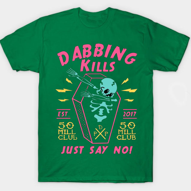black color with pewdiepie dabbing kill mens t shirt 2078 - PewDiePie Merch