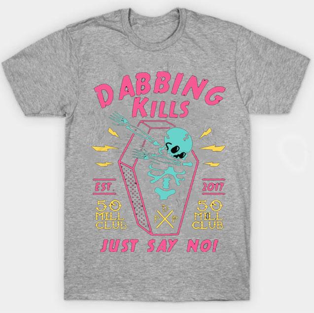 black color with pewdiepie dabbing kill mens t shirt 2424 - PewDiePie Merch