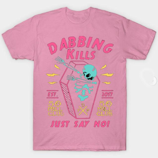 black color with pewdiepie dabbing kill mens t shirt 5659 - PewDiePie Merch