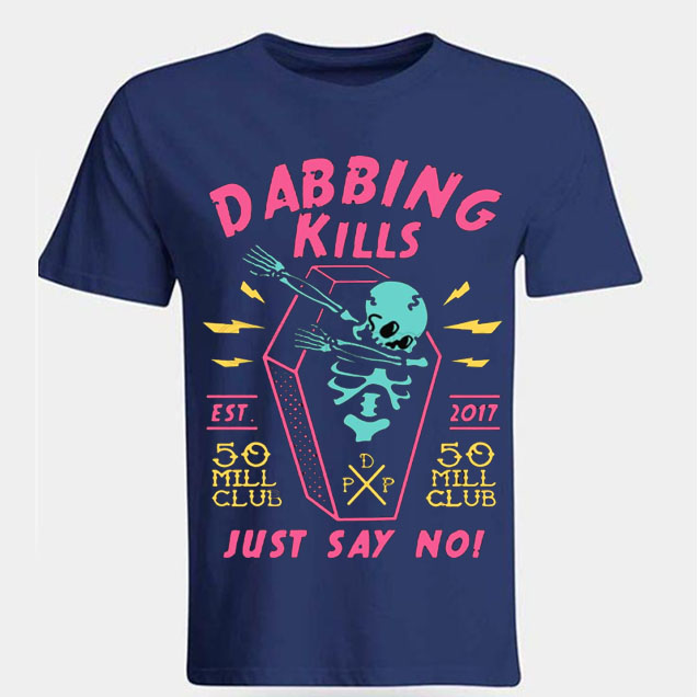 black color with pewdiepie dabbing kill mens t shirt 7653 - PewDiePie Merch