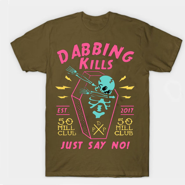 black color with pewdiepie dabbing kill mens t shirt 8560 - PewDiePie Merch