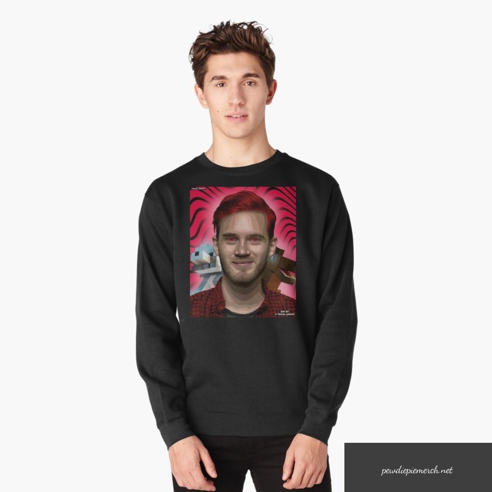 black color with pewdiepie minecraft sweatshirt 7559 - PewDiePie Merch