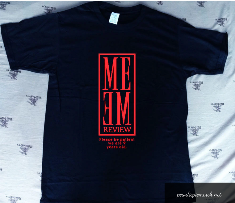 black color with pewdiepie red text t shirt 2905 - PewDiePie Merch