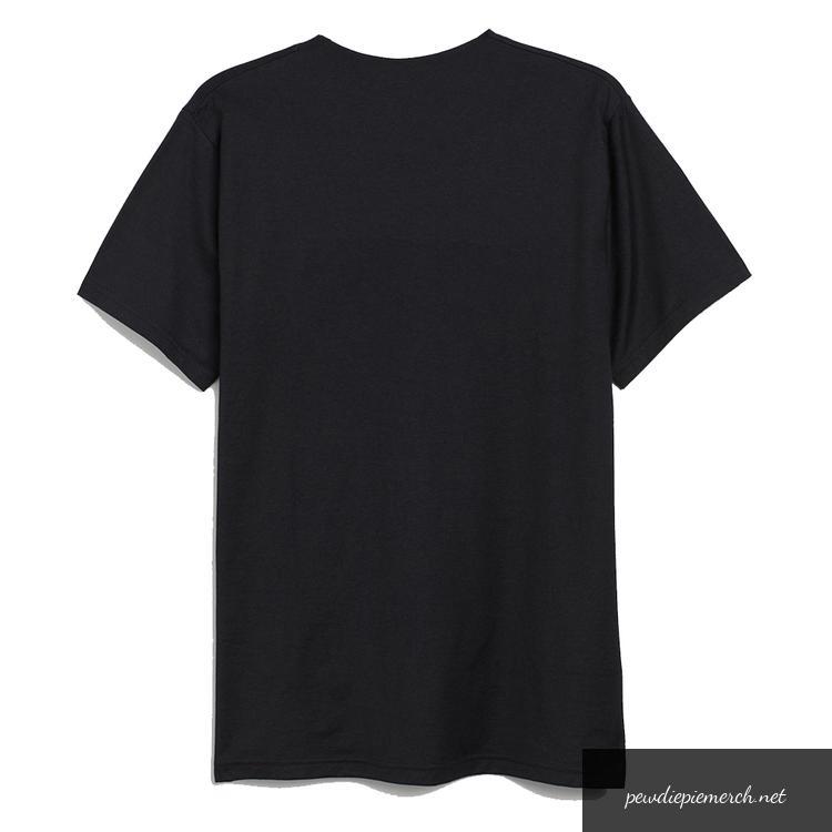 black color with red text logo pewdiepie merch t shirt 8272 - PewDiePie Merch