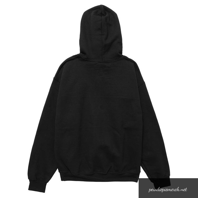 black color with white logo and red line pewdiepie merch hoodies 4044 - PewDiePie Merch