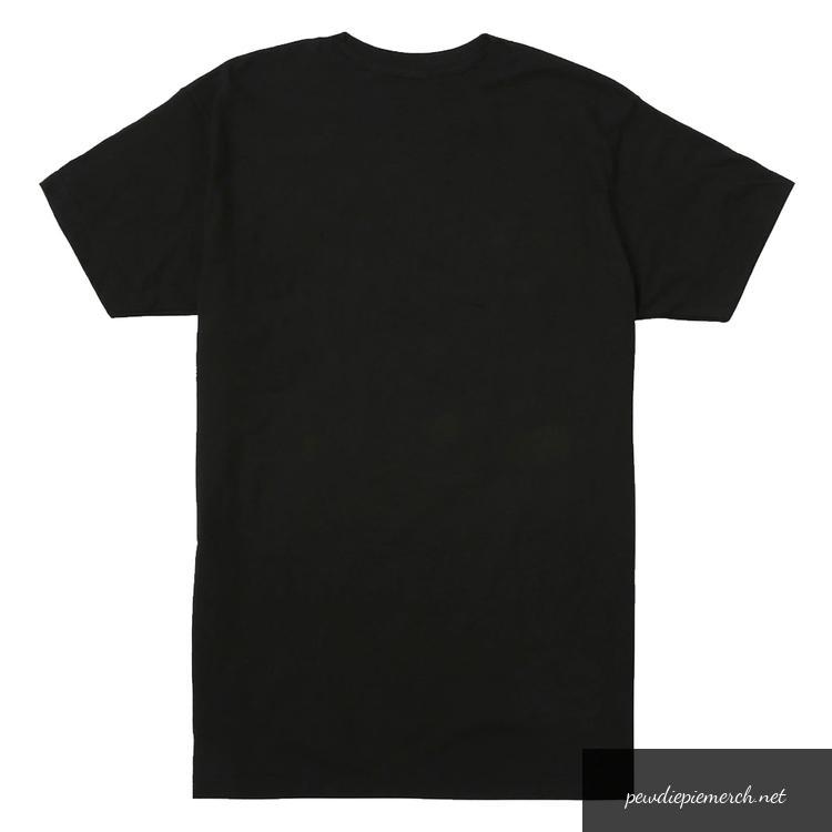 black color with white text logo pewdiepie merch t shirt 8931 - PewDiePie Merch