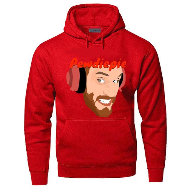 black red blue color with pewdiepie image hoodies 5812 - PewDiePie Merch