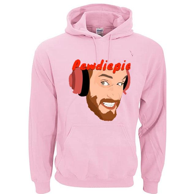 black red blue color with pewdiepie image hoodies 6666 - PewDiePie Merch