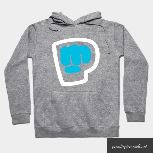 charcoal navy vintage pewdiepie smash logo hoodie 7691 - PewDiePie Merch