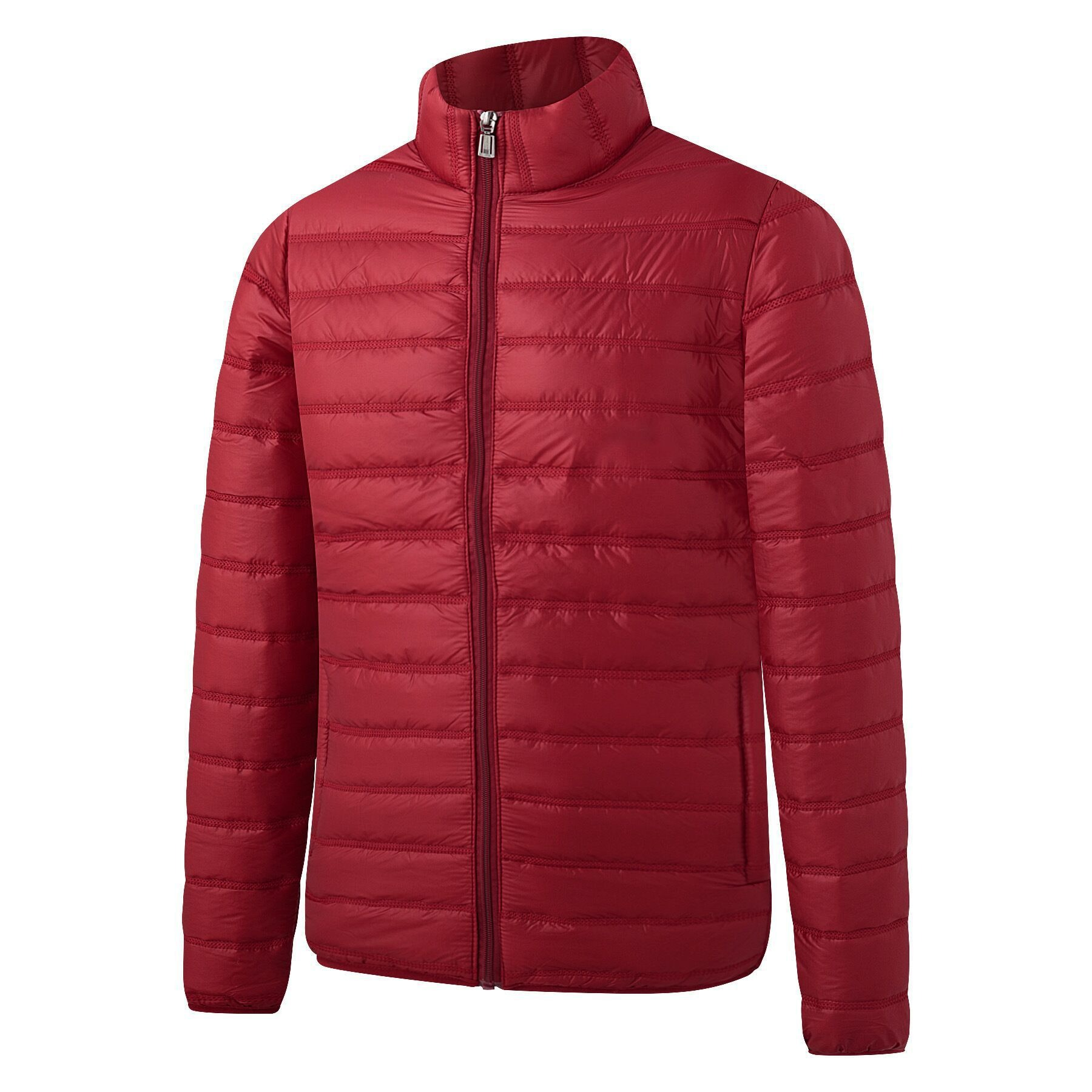 down cotton padded jacket casual all match fashion mens stand up collar thick solid color autumn large size 1139 - PewDiePie Merch