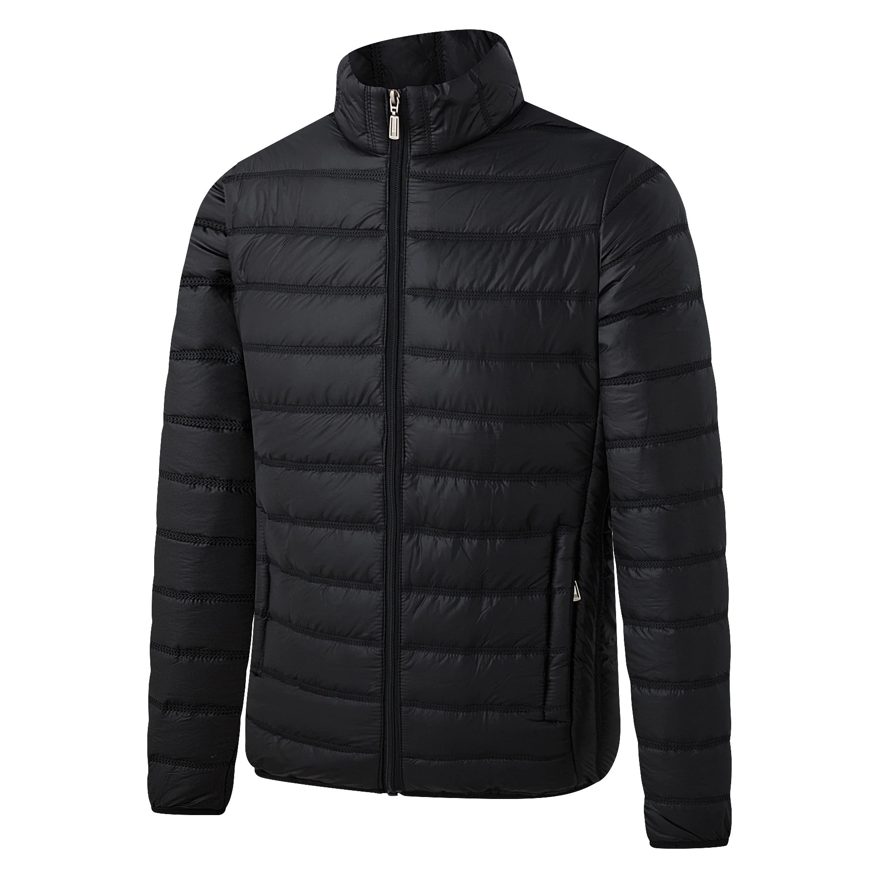 down cotton padded jacket casual all match fashion mens stand up collar thick solid color autumn large size 5258 - PewDiePie Merch
