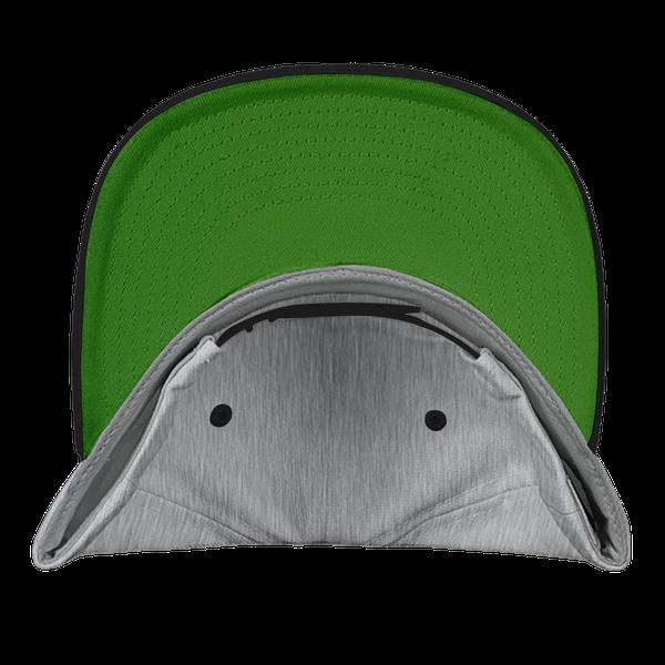 gray blue black color with pewdiepie smash logo snapback hat 3375 - PewDiePie Merch