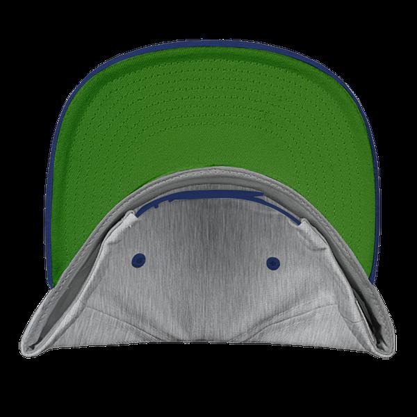 gray blue black color with pewdiepie smash logo snapback hat 3387 - PewDiePie Merch