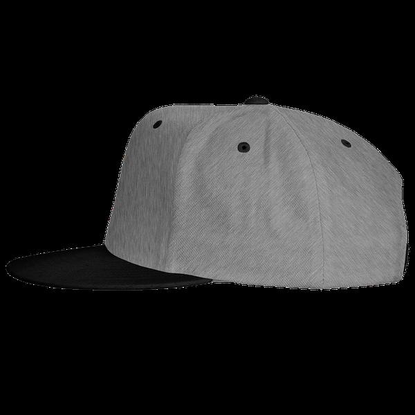 gray blue black color with pewdiepie smash logo snapback hat 8723 - PewDiePie Merch