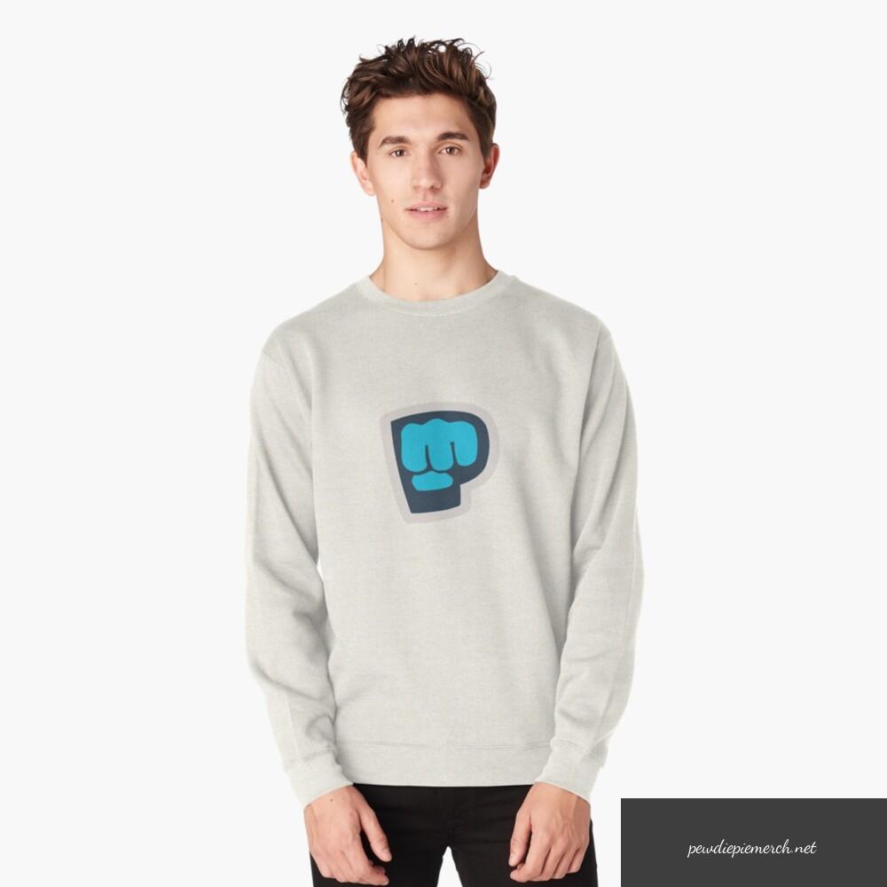 gray color with pewdiepie logo sweatshirt 6519 - PewDiePie Merch