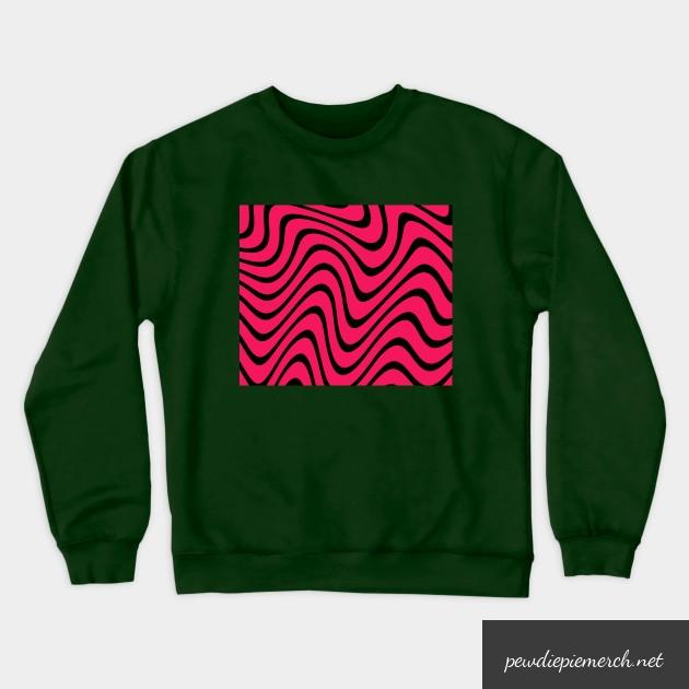 green blue gray color with pewdiepie pattern sweatshirt 3335 - PewDiePie Merch