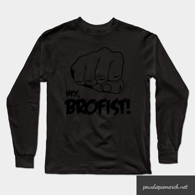 hey brofist long sleeve shirt 1998 - PewDiePie Merch