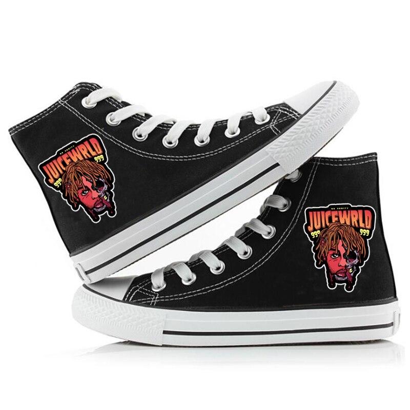 hip hop singer respect print sneakers canvas shoes men women 1316 - PewDiePie Merch