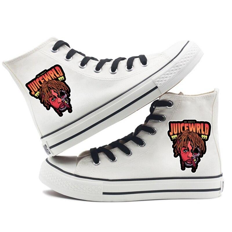 hip hop singer respect print sneakers canvas shoes men women 3651 - PewDiePie Merch