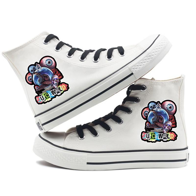 hip hop singer respect print sneakers canvas shoes men women 3671 - PewDiePie Merch